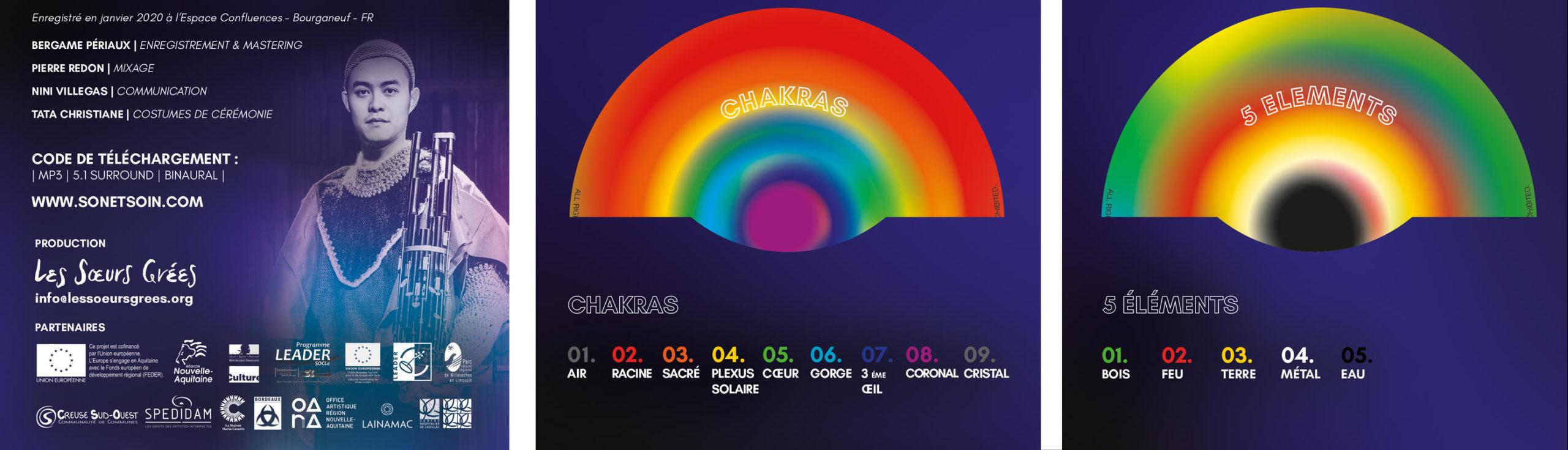ALBUM CHAKRAS & 5 ÉLÉMENTS - PIERRE REDON & ENSEMBLE 9